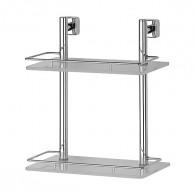 Полка 2-х уровневая с ограничителем FBS Esperado Esp 062 (30 см) (стекло)