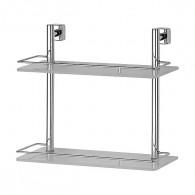 Полка 2-х уровневая с ограничителем FBS Esperado Esp 063 (40 см) (стекло)