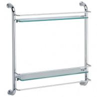 Полка 2-х уровневая WasserKraft K-2022 (стекло)
