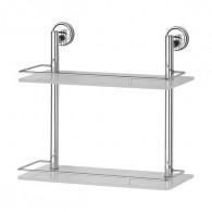 Полка 2-х уровневая с ограничителем FBS Ellea Ell 063 (40 см) (стекло)