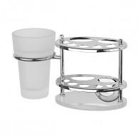 Держатель з/щеток и пасты со стаканом FBS Standard Sta 061 (стекло)