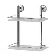 Полка 2-х уровневая с ограничителем FBS Standard Sta 062 (30 см) (стекло)