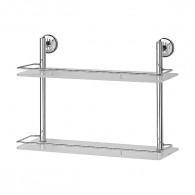Полка 2-х уровневая с ограничителем FBS Standard Sta 064 (50 см) (стекло)