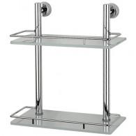 Полка 2-х уровневая с ограничителем FBS Vizovice Viz 062 (30 см) (стекло)