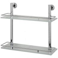 Полка 2-х уровневая с ограничителем FBS Vizovice Viz 063 (40 см) (стекло)