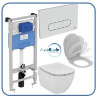 Комплект Ideal Standard Tesi R030501 унитаз + инсталляция с кнопкой смыва 4 в 1