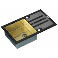 Мойка из нержавейки Zorg Inox GL-7851 Black-Bronze