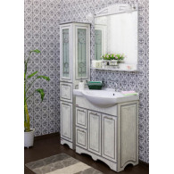Мебель для ванной Sanflor Адель 82 белая, серебро, L