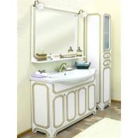 Мебель для ванной Sanflor Каир 120 белая, золотая