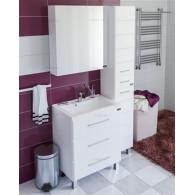 Мебель для ванной СанТа Омега Люкс 65 напольная белая 3 ящика