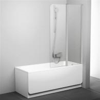 Шторка на ванну Ravak CVS2-100 R Transparent профиль сатин 7QRA0U00Z1