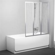 Шторка на ванну Ravak VS3 130 Rain профиль сатин 795V0U0041