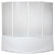 Шторка на ванну Bas Дрова (4 ств. пластик)