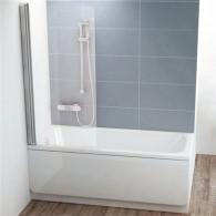 Шторка на ванну Ravak CVS1-80 L Transparent профиль блестящий 7QL40C00Z1