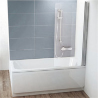 Шторка на ванну Ravak CVS1-80 R Transparent профиль блестящий 7QR40C00Z1