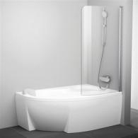 Шторка на ванну Ravak Rosa CVSK1 140/150 R Transparent профиль блестящий 7QRM0C00Y1