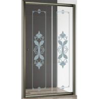 Душевая дверь Cezares Giubileo-BF-1 стекло с узором, бронза