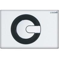 Кнопка слива инсталляций Creavit Power GP5001.02 бело-черная