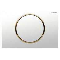 Кнопка слива инсталляций Geberit Sigma 10 115.758.KK.5 белый/золото