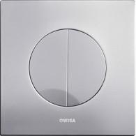 Кнопка слива инсталляций Wisa XS Maro DF матовый хром 8050.414431
