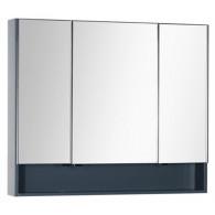 Зеркало-шкаф Aquanet Виго 100 серый 183359