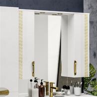Зеркало-шкаф ValenHouse Ривьера 100 патина/золото R100_ЗПЗ