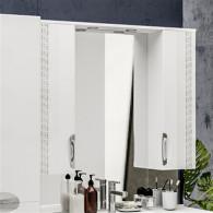 Зеркало-шкаф ValenHouse Ривьера 100 патина/хром R100_ЗПС