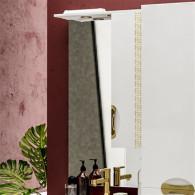 Зеркало-шкаф ValenHouse Ривьера 60 патина/золото R60_ЗПЗ