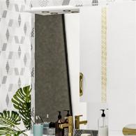 Зеркало-шкаф ValenHouse Ривьера 80 патина/золото R80_ЗПЗ