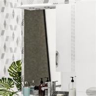 Зеркало-шкаф ValenHouse Ривьера 80 патина/хром R80_ЗПС