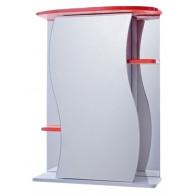 Зеркало-шкаф Vigo Alessandro 3-55 красный №11-550-красн