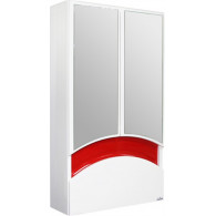 Зеркало-шкаф Mixline Радуга 46 красное 522475
