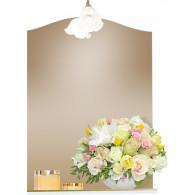 Зеркало Бриклаер Лючия 58 белый золото УТ-00005609