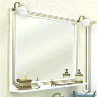 Зеркало Sanflor Каир 120 белое, золотая патина