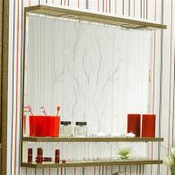 Зеркало Sanflor Румба 120 венге, патина золото