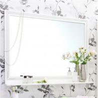 Зеркало Sanflor Элен 120 белое, патина серебро