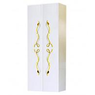 Пенал-шкаф Clarberg Due Amanti 50 белый, ручки золото Due.05.05/W/GL