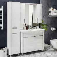 Мебель для ванной ValenHouse Ривьера 100 патина серебро, хром