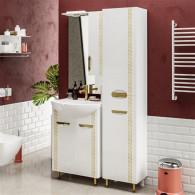 Мебель для ванной ValenHouse Ривьера 60 патина золото, золото