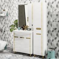 Мебель для ванной ValenHouse Ривьера 80 патина золото, золото