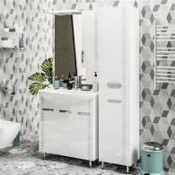 Мебель для ванной ValenHouse Ривьера 80 патина серебро, хром