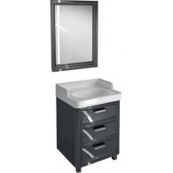 Мебель для ванной Kerama Marazzi Pompei 60 черная, с 3 ящиками