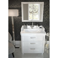 Мебель для ванной Kerama Marazzi Pompei 80 белая, с 3 ящиками