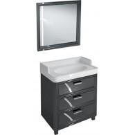 Мебель для ванной Kerama Marazzi Pompei 80 черная, с 3 ящиками