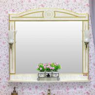 Зеркало Sanflor Адель 100 белое, патина золото