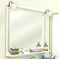 Зеркало Sanflor Каир 100 белое, золотая патина