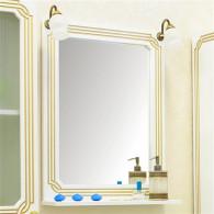 Зеркало Sanflor Каир 60 белое, золотая патина