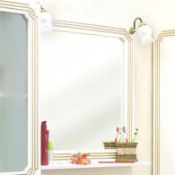 Зеркало Sanflor Каир 75 белое, золотая патина