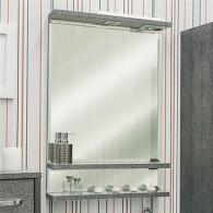 Зеркало Sanflor Румба 60 венге, патина серебро