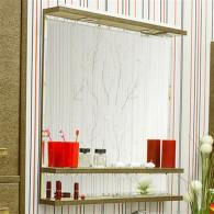 Зеркало Sanflor Румба 82 венге, патина золото